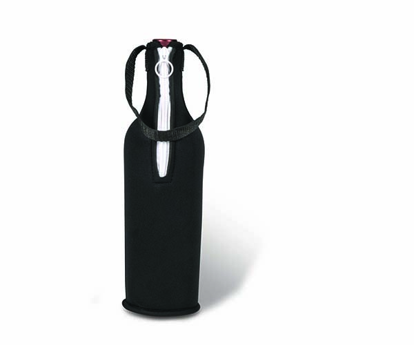 Neoprene Insulated Wine Tote - Black