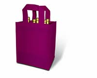 Burgundy 6 Bottle Non-Woven Tote-25245