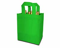 Green 6 Bottle Non-Woven Tote-25246