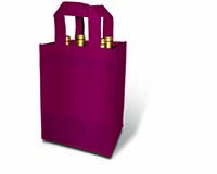 Burgundy 4 Bottle Non-Woven Tote-25284