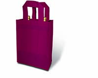 Burgundy 2 Bottle Non-Woven Tote-25375
