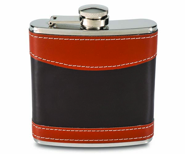 6 OZ Flask - Mixed Brown