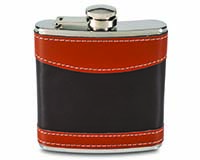 6 OZ Flask - Mixed Brown-26481