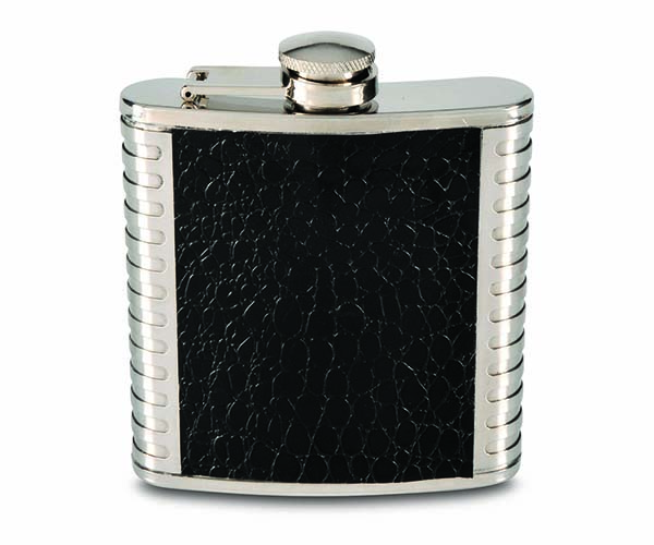 6 OZ Faux Leather & Metal Flask