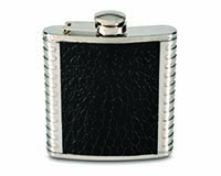6 OZ Flask - Black & Metal-26485