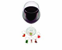 Wine  Charms - Glass Christmas Ornaments 26636