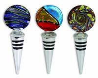 Bottle Stopper - Glass Disc Assortment-26642