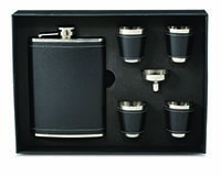Flask Gift Set - Black-26643