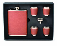 Flask Gift Set - Brown-26644
