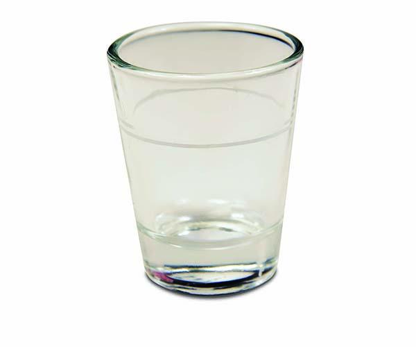 Lined Shot Glass - 1.5oz.