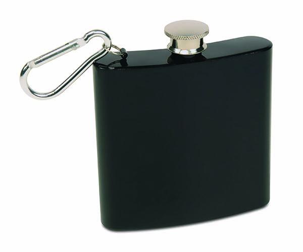 6 OZ Black Carabiner Flask