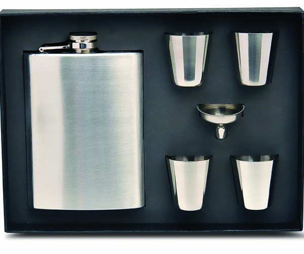 Flask Gift Set - Stainless