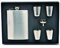Flask Gift Set - Stainless-26706