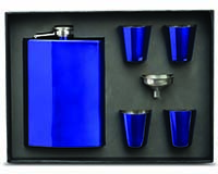 Flask Gift Set - Blue-26707