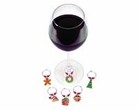 Wine Charms - Christmas Décor Theme 26736