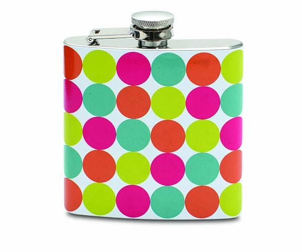 6 OZ Polka Dots Flask