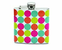 6 OZ Flask - Polka Dots-26814