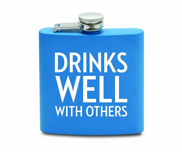6 OZ Flask - Drinks Well With Others