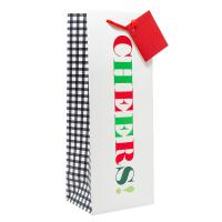 Wine Bag - Cheers! in Christmas Colors-27031