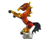 Glass Wbs Horse Rearing 14315