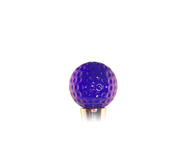 Glass Wbs Golf ball Blue 14404