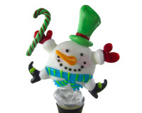 Glass Wbs Round Snowman with Candy 14705