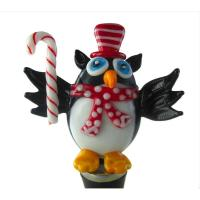 Glass Wbs Christmas Owl with Candy-14707