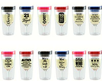 Easy Order Assortment - 4 pcs of each Wine Tumbler Style AC1000-ASST