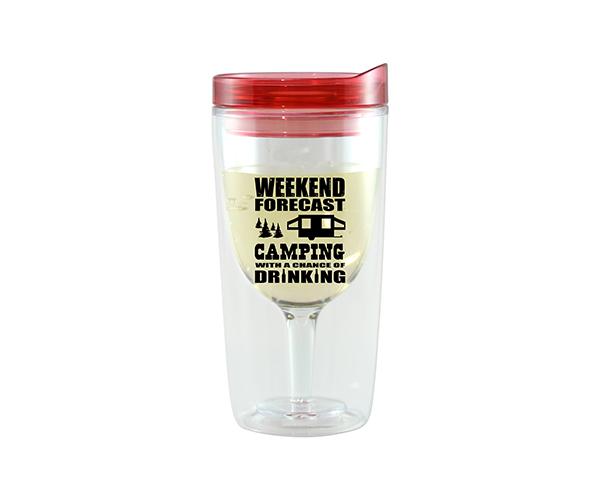 Camping Forecast Vingo Wine Tumbler, Red AC1000-CC1