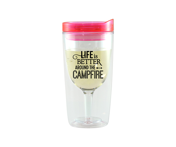 Campfire Vingo Wine Tumbler, Pink AC1000-CC2
