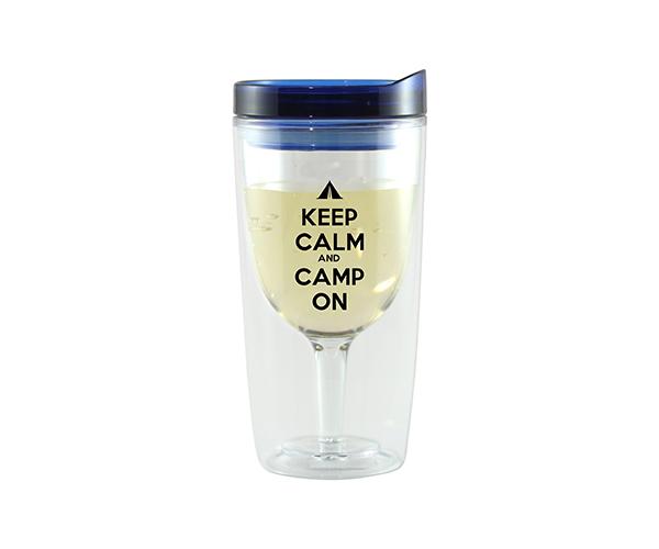 Camp On Vingo Wine Tumbler, Blue AC1000-CC3