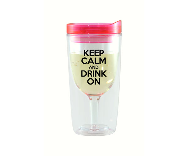 Keep Calm & Drink On Vingo Wine Tumbler AC1000-D3