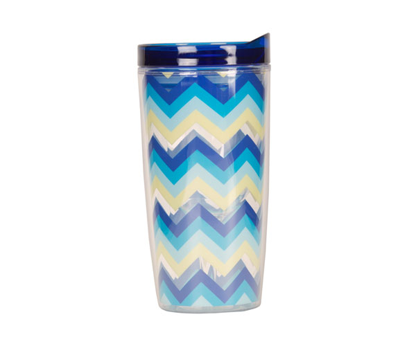 Vingo 10Oz Double-Walled Wine Tumbler - Multi-Blue AC1101