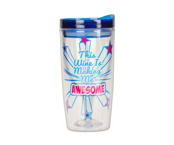 This Wine is Making Me Awesome Insulated Wine Tumblers 10 oz AC1110'