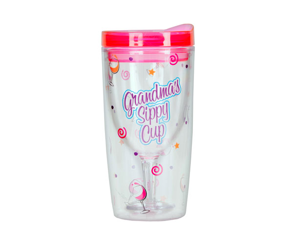 Grandma's Sippy Cup Insulated Wine Tumbler 10 oz AC1112'