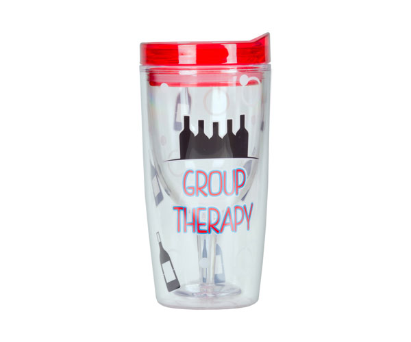 Group Therapy Insulated Wine Tumbler 10 oz AC1113'