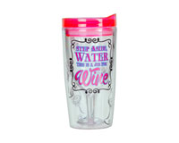 Step Aside Water This is a Job For Wine Insulated Wine Tumbler 10 oz AC1115