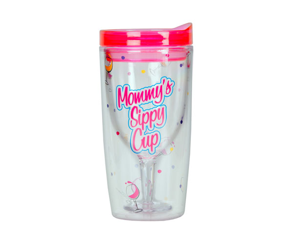 Mommy's Sippy Cup Insulated Wine Tumbler 10 oz