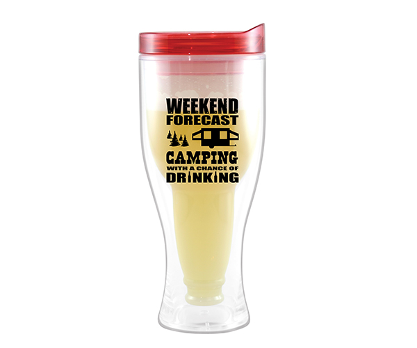 Camping Forecast Beer Buddy Beer Tumbler, Red AC2000-CC1