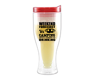 Camping Forecast Beer Buddy Beer Tumbler, Red-AC2000-CC1