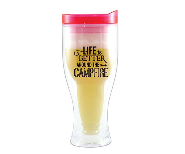 Campfire Beer Buddy Beer Tumbler, Pink AC2000-CC2