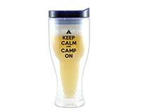Camp On Beer Buddy Beer Tumbler, Blue AC2000-CC3
