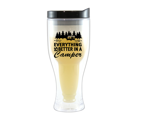 Better Camper Beer Buddy Beer Tumbler, Black AC2000-CC4