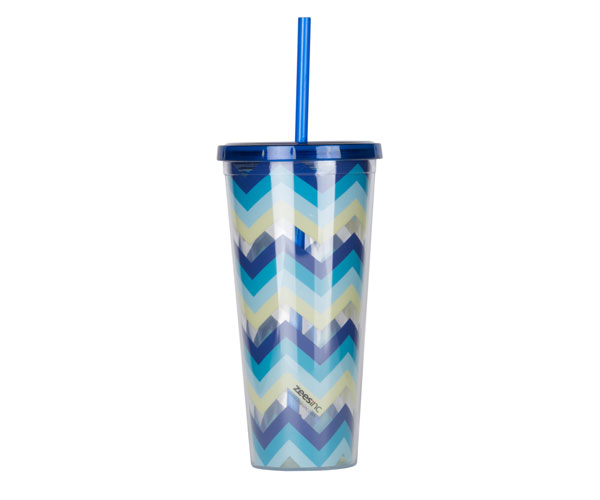 Thirzt 2 Go Tumbler with Lid & Straw - Multi-Blue AC3001