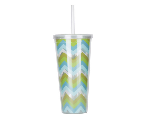 Thirzt 2 Go Tumbler with Lid & Straw - Multi-Green AC3002