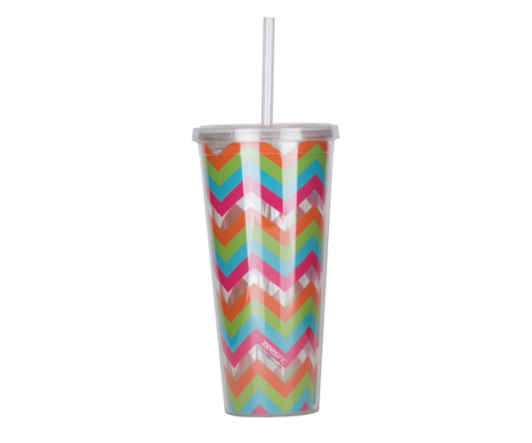 Thirzt 2 Go Tumbler with Lid & Straw - Multi-Colored AC3003