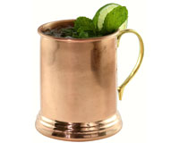 24 oz Copper Tankard Smooth withBrass Handle AC6008