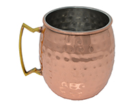 16 oz Copper Clad Moscow Mule Mug - Hammered-AC6015