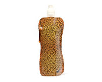 Leopard Pattern Pocket Bottle With Brush CB1031
