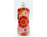 Pocket Bottle Multi Colored Flowers CB1037